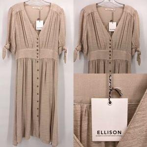 Ellison Canvas Button Down Dress Medium New!